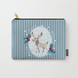 Merry Christmas - Moose and snow Carry-All Pouch