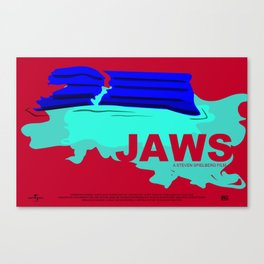 Jaws Movie Poster Canvas Print