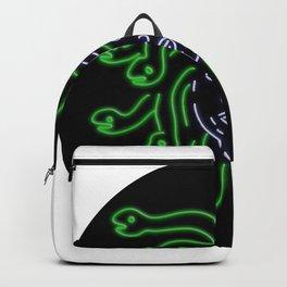 Head of Medusa Oval Neon Sign Backpack