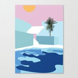 Pool & Steps Canvas Print