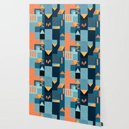 Yellow Klee houses Wallpaper
