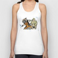 rocket raccoon Tank Tops featuring Rocket Raccoon and Groot by artbyteesa