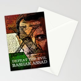 Defeat The Evil Bashar Assad Stationery Cards