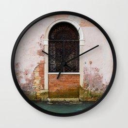 Door in Venice Wall Clock