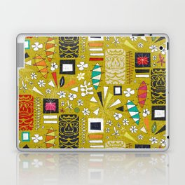 tiki yellow Laptop & iPad Skin