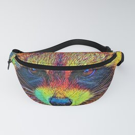 AnimalColor_Racoon_002 Fanny Pack