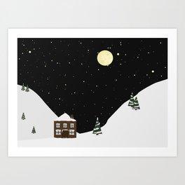 Snowy Mountainside Art Print