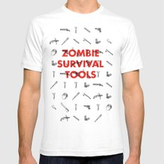 Zombie Survival Tools - Pattern 'o tools SMALL Mens Fitted Tee White