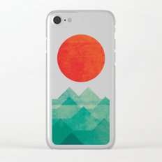 The ocean, the sea, the wave Clear iPhone Case
