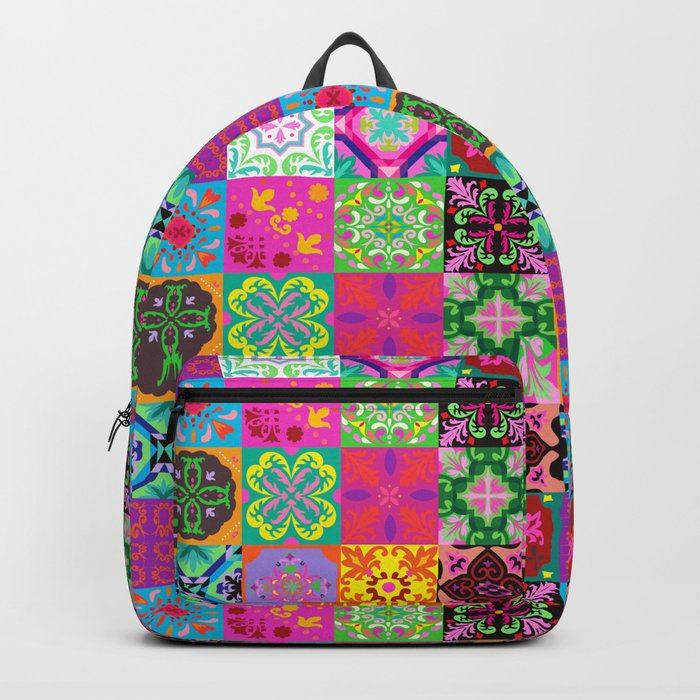Bohemian Jungle Quilt Tiles Rucksack