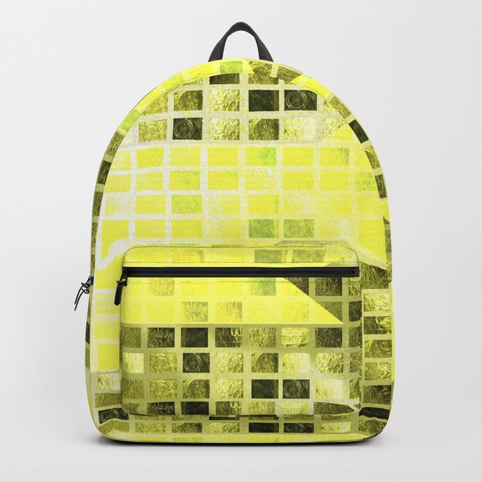 Abstract Yellow Arrows Pattern Backpack