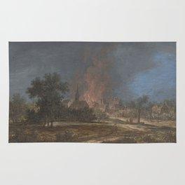 Brand in een dorp, Barbara Regina Dietzsch, Christoph Ludwig Agricola, 1716 - 1783 Rug
