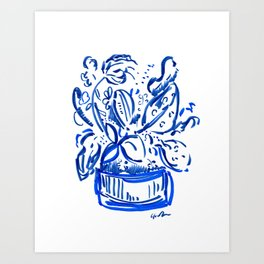 Wild Blue Boquet Art Print