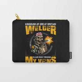 Kingdom of great britain welder blood welder quote Carry-All Pouch