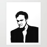 quentin tarantino Art Prints featuring Quentin Tarantino  by Carolyn Campbell