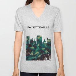 Fayetteville Skyline Unisex V-Neck