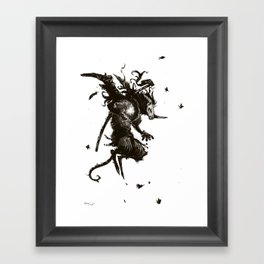 butterfly demon Framed Art Print