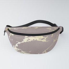 Kintsugi Ceramic Gold on Red Earth Fanny Pack