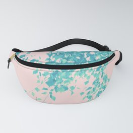 Turquoise Blush Leaves Delight #1 #tropical #decor #art #society6 Fanny Pack