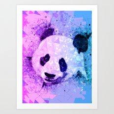 Colorful Geometric Panda Art - Cute Pandas Art Print