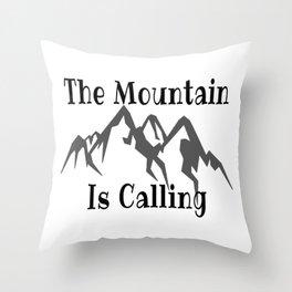 Climbing Quote Throw Pillow