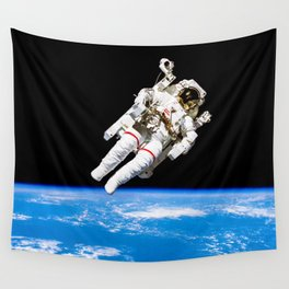 Astronaut Bruce McCandless Floating Free Wall Tapestry