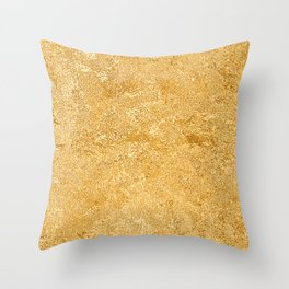 Shiny Textured Gold Foil Throw Pillow