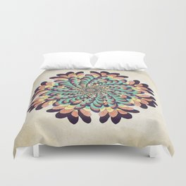 Maple Samaras Flower Mandala Duvet Cover