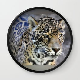 Clouded Leopard Wall Clock