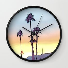 Layered Sunset Wall Clock
