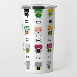 Pixel Supervillain Alphabet 2 Travel Mug