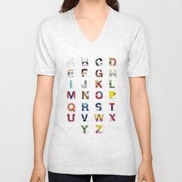 VGC alphabet Unisex V-Neck