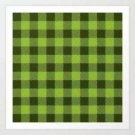 Buffalo Plaid: Green Art Print