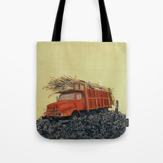 sugar cane and truck on fire Tote Bag