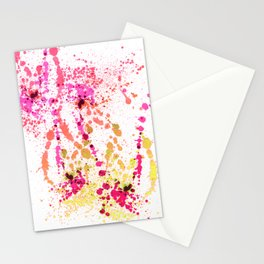 Uplifting Heat - Abstract Splatter Style Stationery Cards
