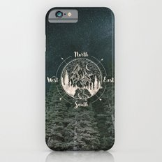 Mountains Compass Milky Way Woods Gold iPhone 6s Slim Case