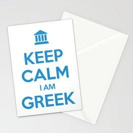 KEEP CALM I AM GREEK Stationery Cards