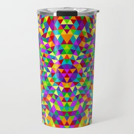 Happy triangle mandala 2 Travel Mug