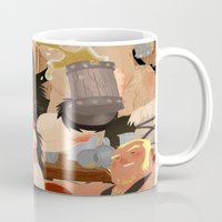 vikings Mugs featuring Vikings by Dronio