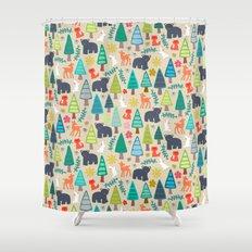 summer woodland Shower Curtain