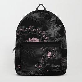 Pink and Black Bejewelled Fractal  Backpack