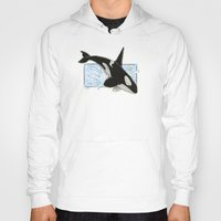 killer whale Hoodies featuring Orca - Killer Whale? by LyndaParker