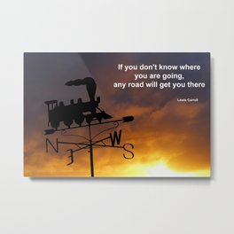 A Journey Quotation Metal Print