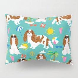 Cavalier King Charles Spaniel beach day tropical vacation socal sunshine Pillow Sham