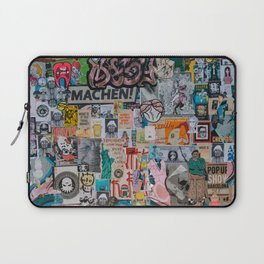 Sticker and graffiti wall background 2 - Berlin street art photography Laptop Sleeve