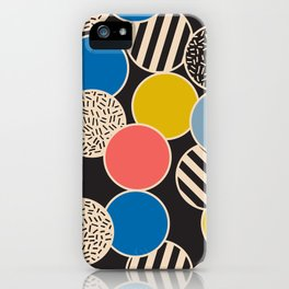 Memphis Inspired Pattern 6 iPhone Case