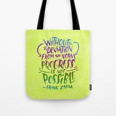 Frank Zappa on Progress Tote Bag