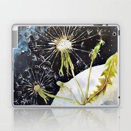 Dandelion Moon Surreal Space Travel, Taraxacum Laptop & iPad Skin