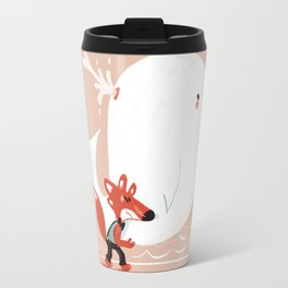 Fox and Whale Travel Mug