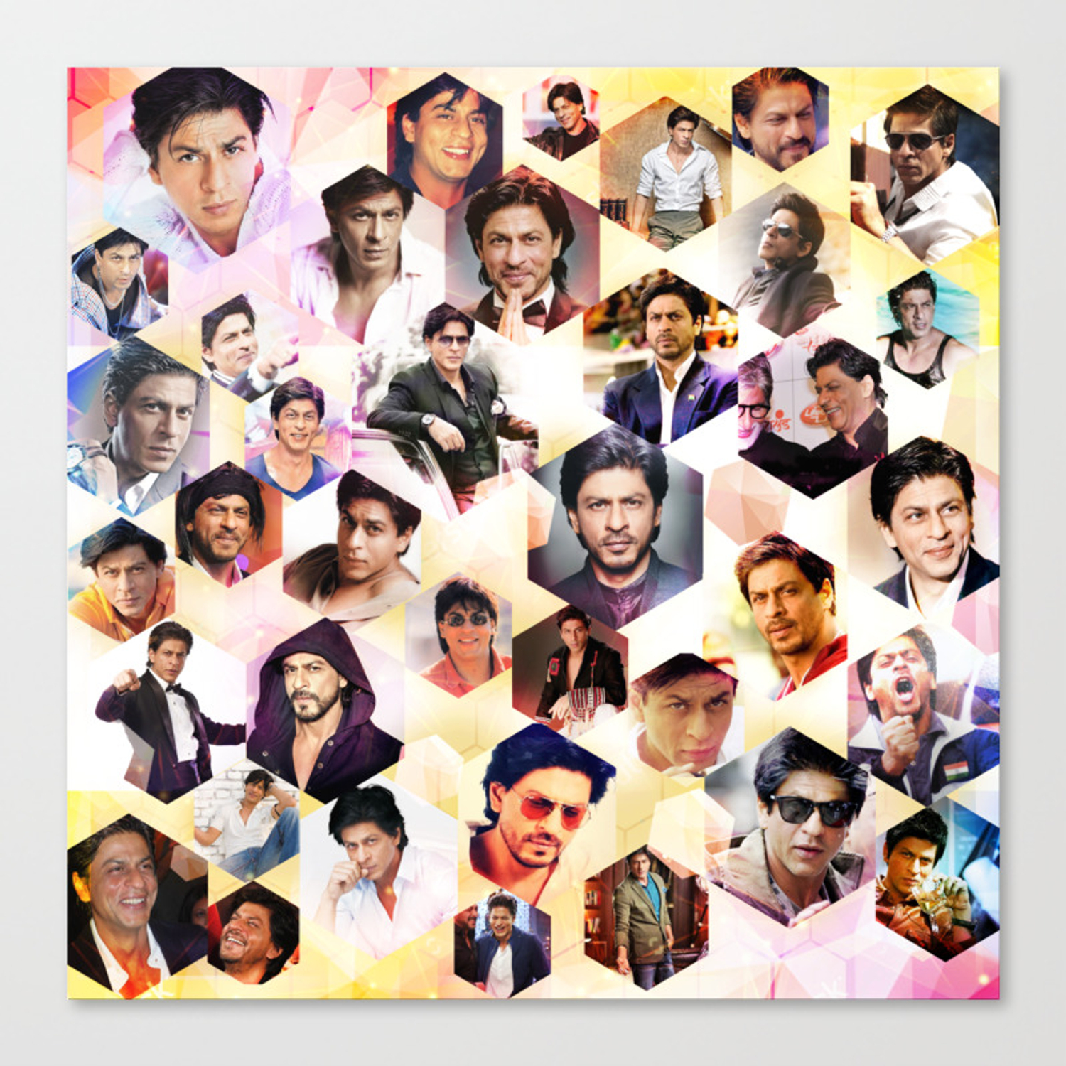 Shahrukh Khan Pillowcase Canvas Print By Ohmybollywood Society6
